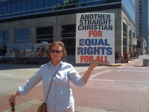 Another equality supporter in Indianapolis