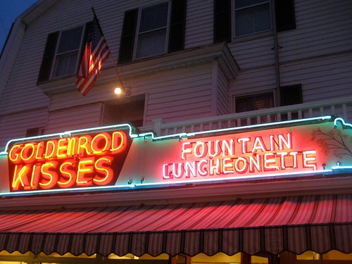 Goldenrod York Beach ME Fountain Luncheonette Neon