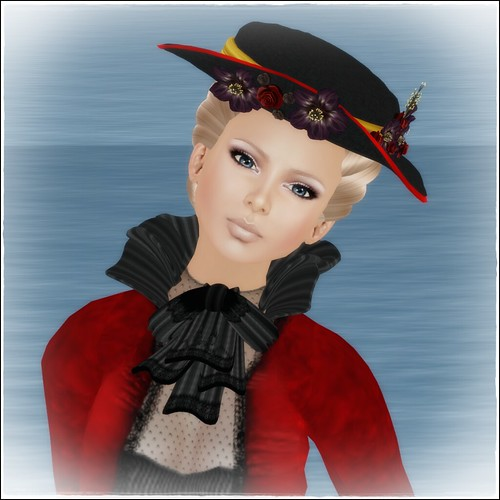 Hatpins - Lady Sophronia Hat Red and Yellow - LOW