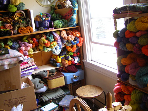 smelling: newly dyed wool