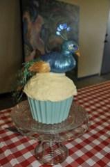 Giant Peacock Cupcake!