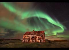 Aurora over Rusty Shack - Hafnarfjörður, Iceland by orvaratli
