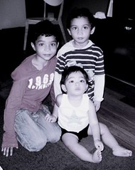 3 monsters_BW