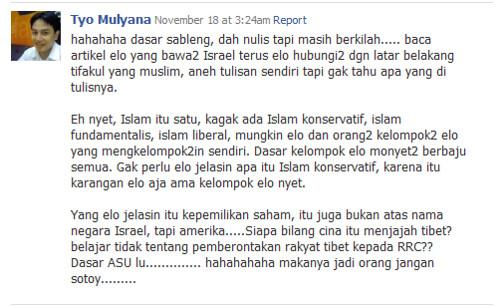 Rebuttal Tyo Mulyana