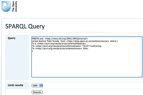 Sparql query interface at data.open.ac.uk/query