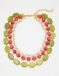 David Aubrey necklace green-pink