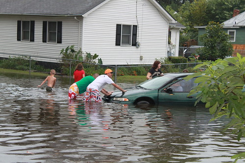 Elizabeth City - Flood - Pushing Car