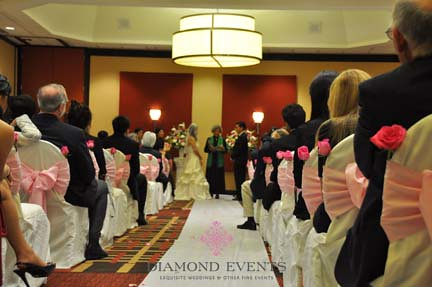 Wedding Ceremony at the Roanoke Sheraton Hotel and Conference Center