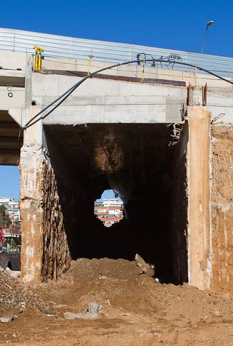Pont de Sant Adrià - Vaciado de la losa - Sur - 16-11-10