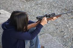 Dena & her bolt action .22