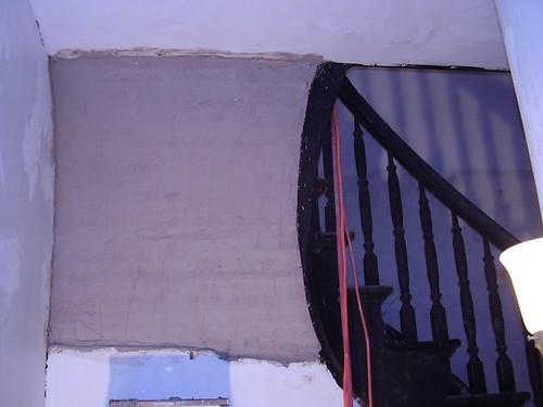 Devendorf house - plasterwork under stairs in main hall