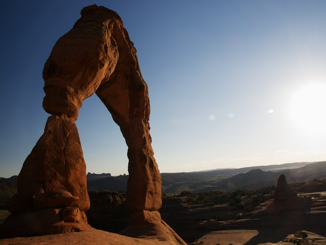 Delicate Arch at sundown