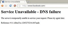 facebook is down - Service Unavailable - DNS f...