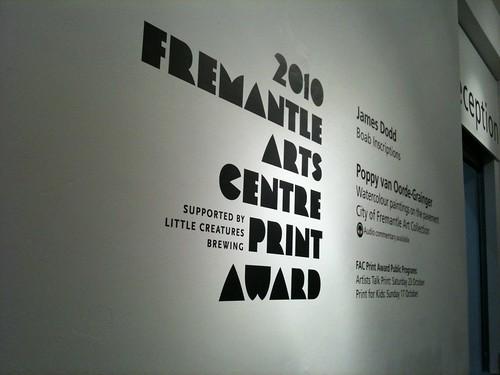 2010 Fremantle Arts Centre Print Award
