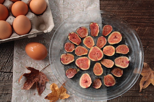 Eggs and Fig Halves