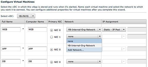vmware vCD cloud director networking screenshot