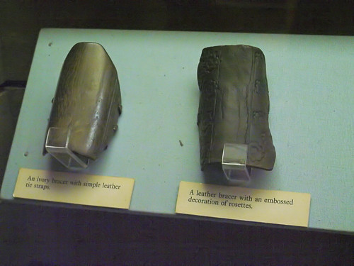 Two archer's arm guards
