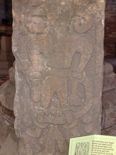 The Loki Stone in Kirkby Stephen Church