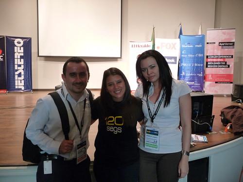 Luis Alfaro @lalfaro de Microsoft y Stephanie Fallas