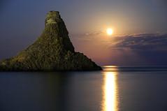 Acitrezza Faraglioni Moon Rise Sicilia Italy I...
