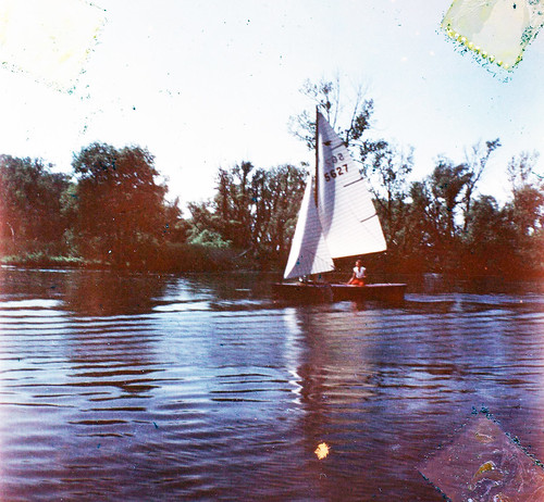 Snipe 5627 Sailing up Harbor 1949