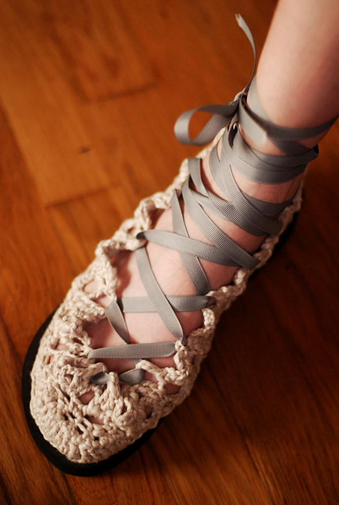 Frilly Crocheted Shoes!