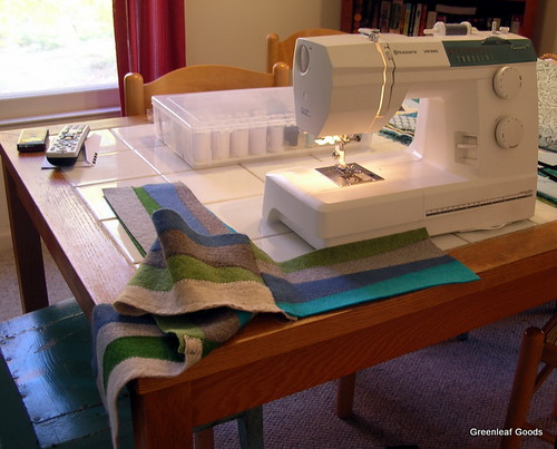 Sewing more scarves!