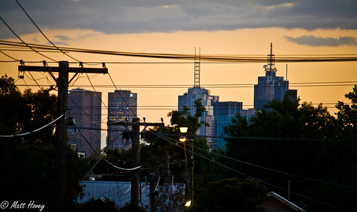Melbourne on sunset by Matt Hovey