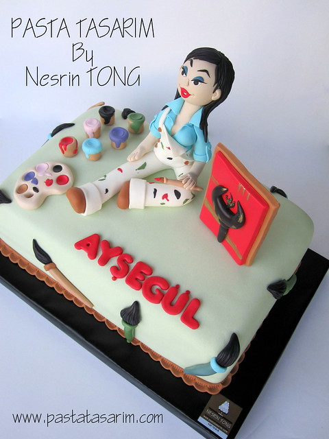 THE PAINTER CAKE