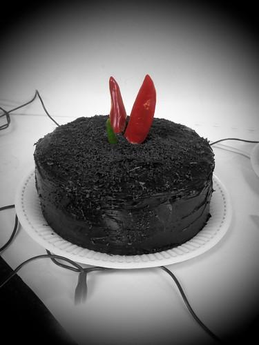Chilli Chocolate Cake B&W