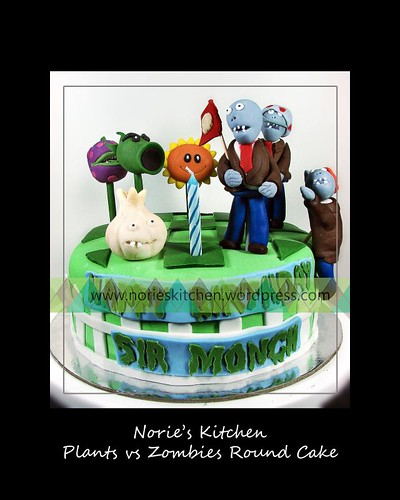 Norie's Kitchen - Plants vs Zombies Round Cake