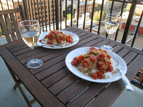 Braised Tilapia with Leeks and Tomatoes