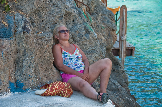 Chris has a snooze in Loutro