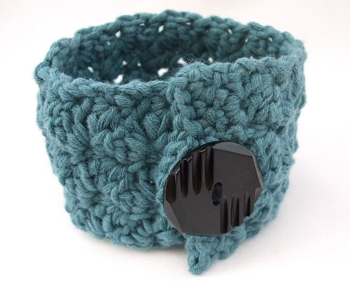 Crochet Ripple Stitch Wrist Cuff