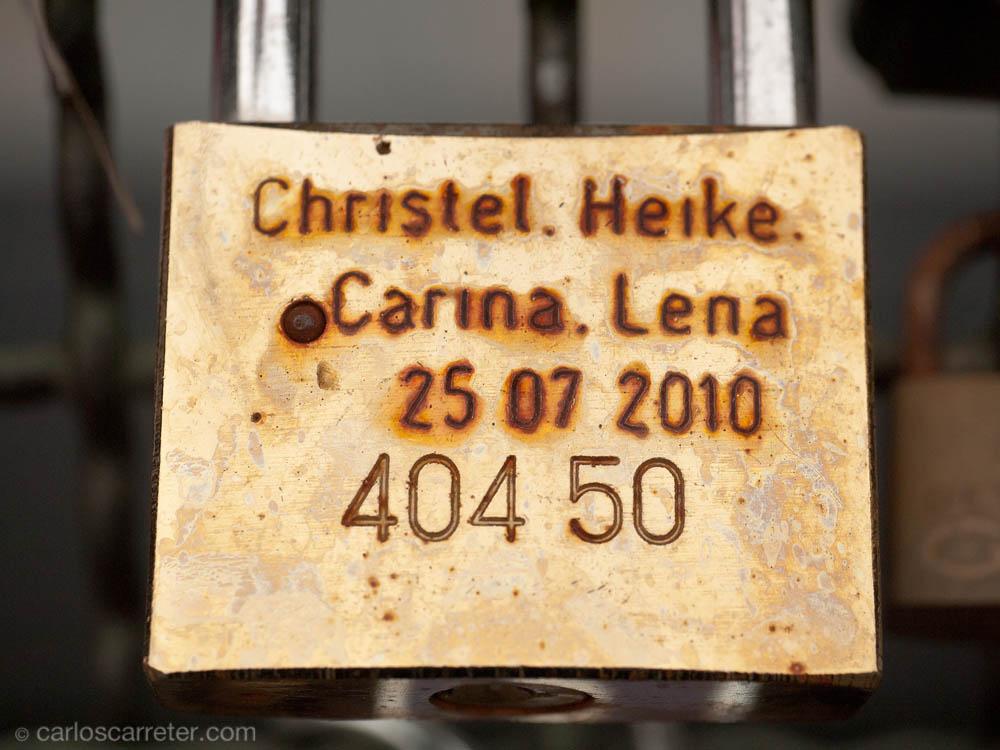 Candados - Christel... Heike... Carina... Lena... ¿♥?