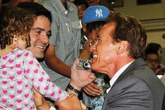 "Edgardo ""Eddie"" Donovan meeting with Governor Arnold Schwarzenegger - Yongsan USAG, Seoul, South Korea - 15 September 2010"