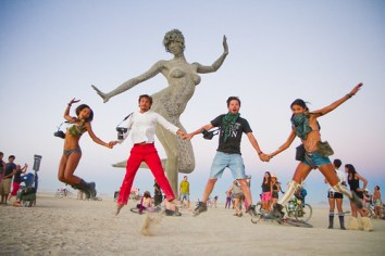 Tao Ruspoli jumpshot @ Bliss Dance - Burning Man 2010