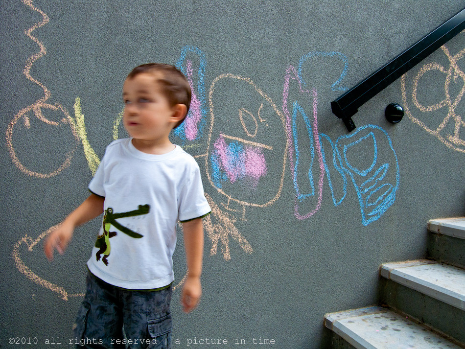 chalk graffiti