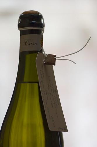 Italian white wine bottle
