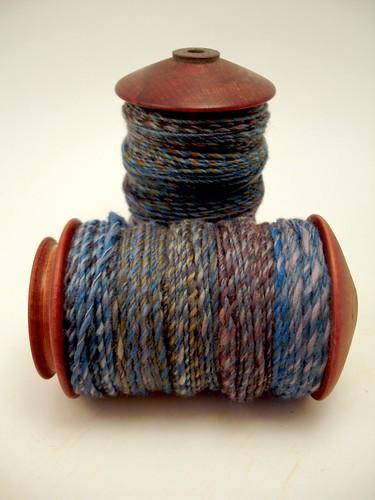 Koigu fibre all spun up