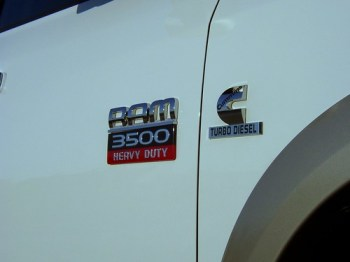 Ram 3500 and cummins logos