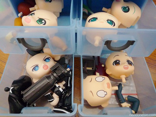 Each drawer is enough to store up to two Nendoroid parts