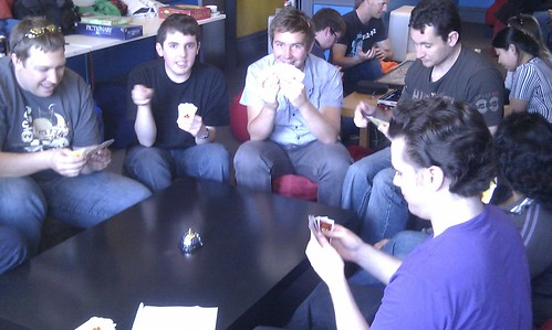 """Playing """"Billionaire"""" game at Cafe Games"""
