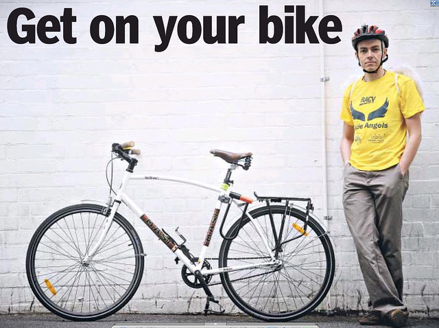Pic for Ride2Work Day, as feature in the Melbourne Leader (and Moonee Valley Leader too, I believe)