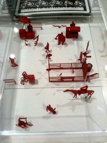 architectural model set in red