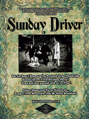 Sunday Driver 10th birthday flyer