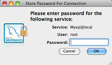 Store Password for Connection