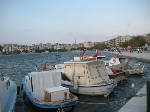 Boats at anchor in Çanakkale