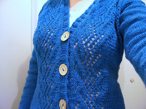 lacey blue cardi