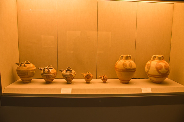 Pots in the Archaelogical Museum of Thira